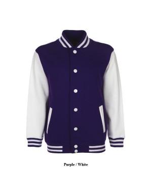 "Laste sportlik jakk ""Junior Varsity Jacket"", 300 g/m2, puuvill-polüester"