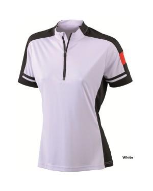 """Naiste jalgratturi T-särk """"Ladies Bike-T Half Zip"""" 150 g/m2, polüester"""
