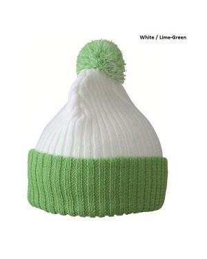 """Kootud müts tutiga """"Knitted Cap with pompom"""" 80 g/m2, polüakrüül"""