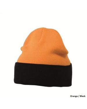 """Kootud müts üleskeeratava äärega """"Knitted Cap"""" 70 g/m2"""