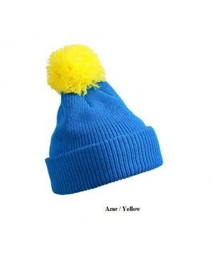 """Kootud müts tutiga """"Pompon Hat with Brim"""" 100 g/m2, polüakrüül"""