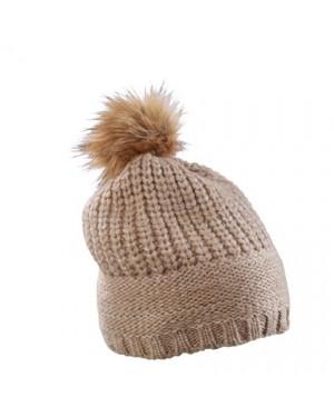 "Kootud müts tutiga ""Knitted Hat with Shiny Effect"" 11 g/m2, polüamiid-polüester"