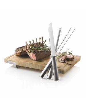 """Lõikelaud, kööginuga, kahvel, teritaja """"Blok"""""""