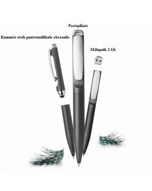 """Mälupulk-pastapliiats puutetundliku otsaga """"USB Stylo 3 in 1 pen"""""""