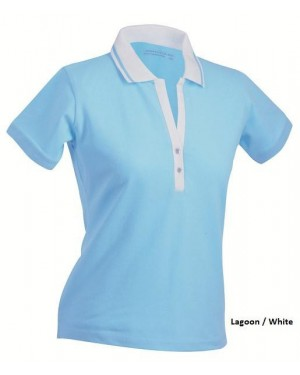 "Naiste polo "" Ladies` Elastic Polo Shortsleeved"" 200 g/m2, puuvill-elastaan"