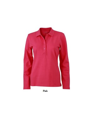 "Naiste polo ""Ladies` Elastic Polo Longsleeve"" 200 g/m2, puuvill-elastaan"