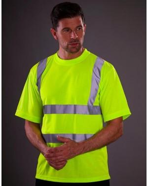 """Neoonvärvides unisex töösärk """"Safety T-shirt"""", polüester"""