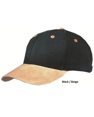 "Nokamüts seemisnahast nokaga ""6 Panel Cap with suede peak"""