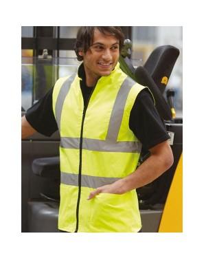 "Unisex ohutusvest tõmbluku -ja sooja fliisvoodriga ""Hi Vis Fleece Reversible Bodywarmer"" 180 g/m2, polüester"
