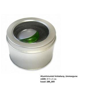 """Alumiiniumist kinkekarp mälupulgale """"Silinder"""" Ø 9 x 6 cm"""