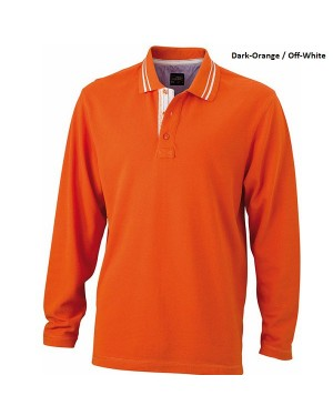 "Meeste polo ""Mens Polo Long-Sleeved"" 200 g/m2, puuvill"