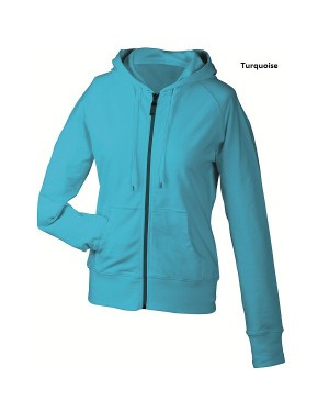 "Naiste jakk kapuutsiga ""Ladies` Hooded Jacket"" 260 g/m2"