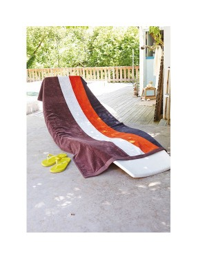 "Rannalina 90 x 180 cm ""Velour Striped Beach Towel"" 400 g/m2"