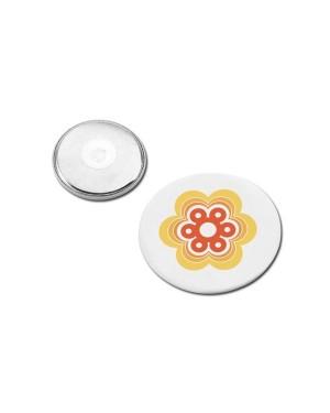 """Rinnamärk, plekist, magnetkinnitusega """"Button-II"""" Ø 4 cm"""