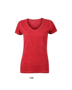 "Naiste T-särk V-kaelusega ""Ladies Gipsy T-Shirt"" 140 g/m2, puuvill"