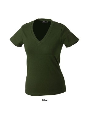 "Naiste T-särk ""V""-kaelusega ""Ladies V-T"" 200 g/m2, puuvill-elastaan"