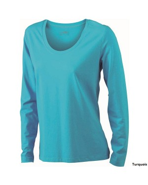 "Naiste T-särk ""Ladies Stretch Shirt long-Sleeved"" 170 g/m2, puuvill-elastaan"