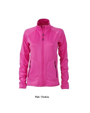 "Naiste elastne sport-fliisjakk ""Ladies Strechfleece Jacket"" 200 g/m2, polüester-elastaan"