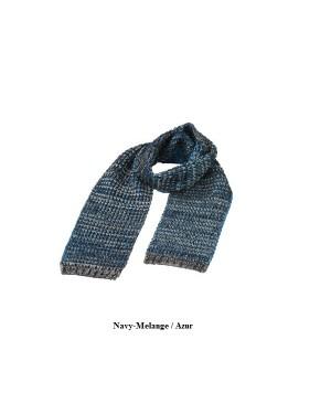 """Kootud sall """"Fancy Winter Scarf"""" 190 x 30 cm, 173 g/m2, polüakrüül-polüamiid"""