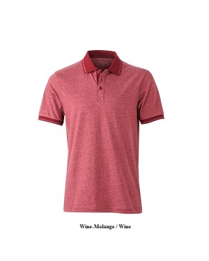 "Meeste polo ""Men`s Heather Polo"" 170 g/m2, polüester-puuvill"