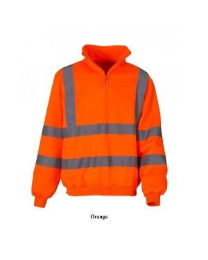 """Unisex ohutus pusa lühikese tõmblukuga """"Hi-Vis Sweatshirt Class 3"""" 280 g/m2, polüester"""