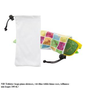 """Päikeseprillide kott """"Subsun"""", NB! Hind koos värvilise trükiga ühelt poolt!"""