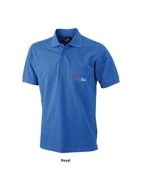 "Unisex polo ""Polo Pique Pocket"" 220 g/m2, puuvill-polüester"