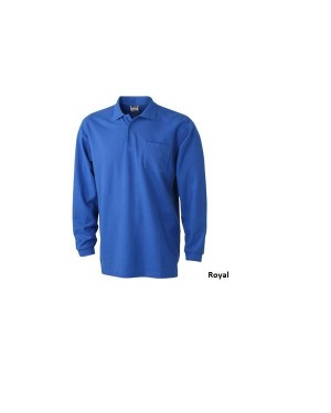 "Meeste polo taskuga ""Polo Pique Long-Sleeved"" 220 g/m2, puuvill-polüester"