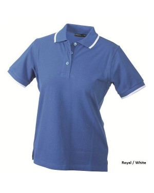"Naiste polo "" Ladies`Polo Tipping"" 220 g/m2, puuvill"