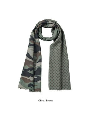 "Suvesall 180 x 50 cm ""Camouflage Scarf"", puuvill"
