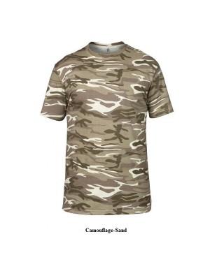 """Meeste T-särk """"Adult Heavyweight Camouflage Tee"""" 170 g/m2, puuvill"""
